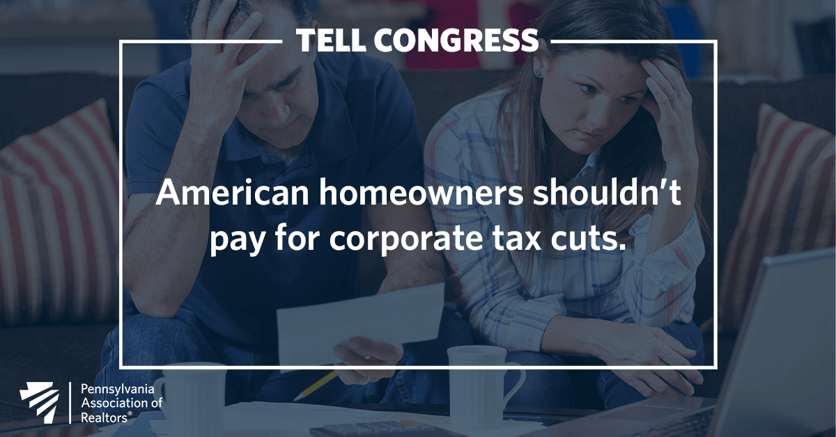 American homeowners shouldn't pay for corporate tax cuts